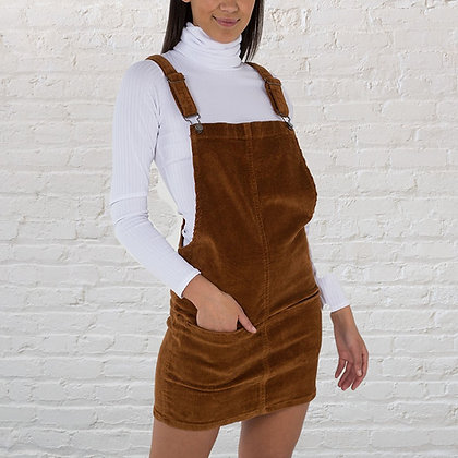 Corduroy Dungaree Pinafore Dress
