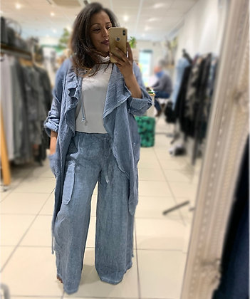 Wide Leg Trouser with Pockets
