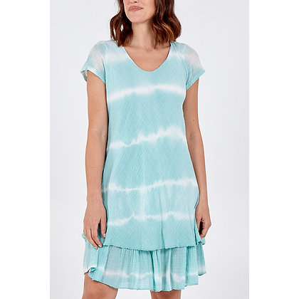Tie Dye Frill Hem Dress