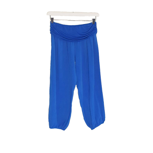 Hareem Style Pants with Stretchy Jersey Waistband