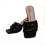 Designer Inspired Quilted Block Heel Mule in Black @ Remona