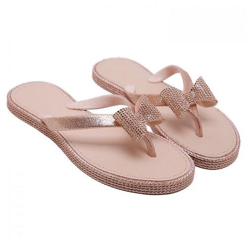 Crystal Bow Pretty Flip Flops