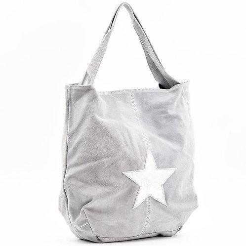 Metallic Star Italian Suede Tote Bag