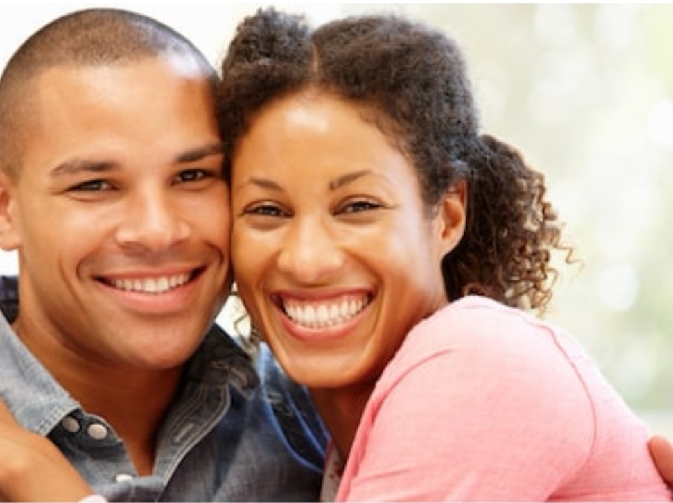Beautiful Interracial Couples smiling and been happy together