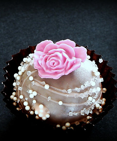 Pink Rose Truffle Cake Pops