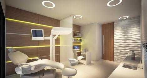 Perspectiva Consultório Odontológico 38 m²