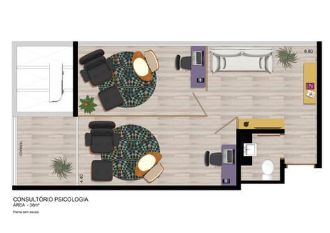 Consultório Psicologia 38 m²