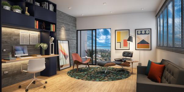 Perspectiva Consultório de Psicologia 38 m²
