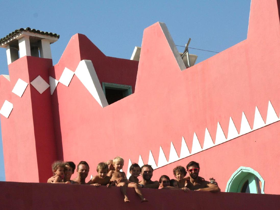 En groupe sur la grande terrasse