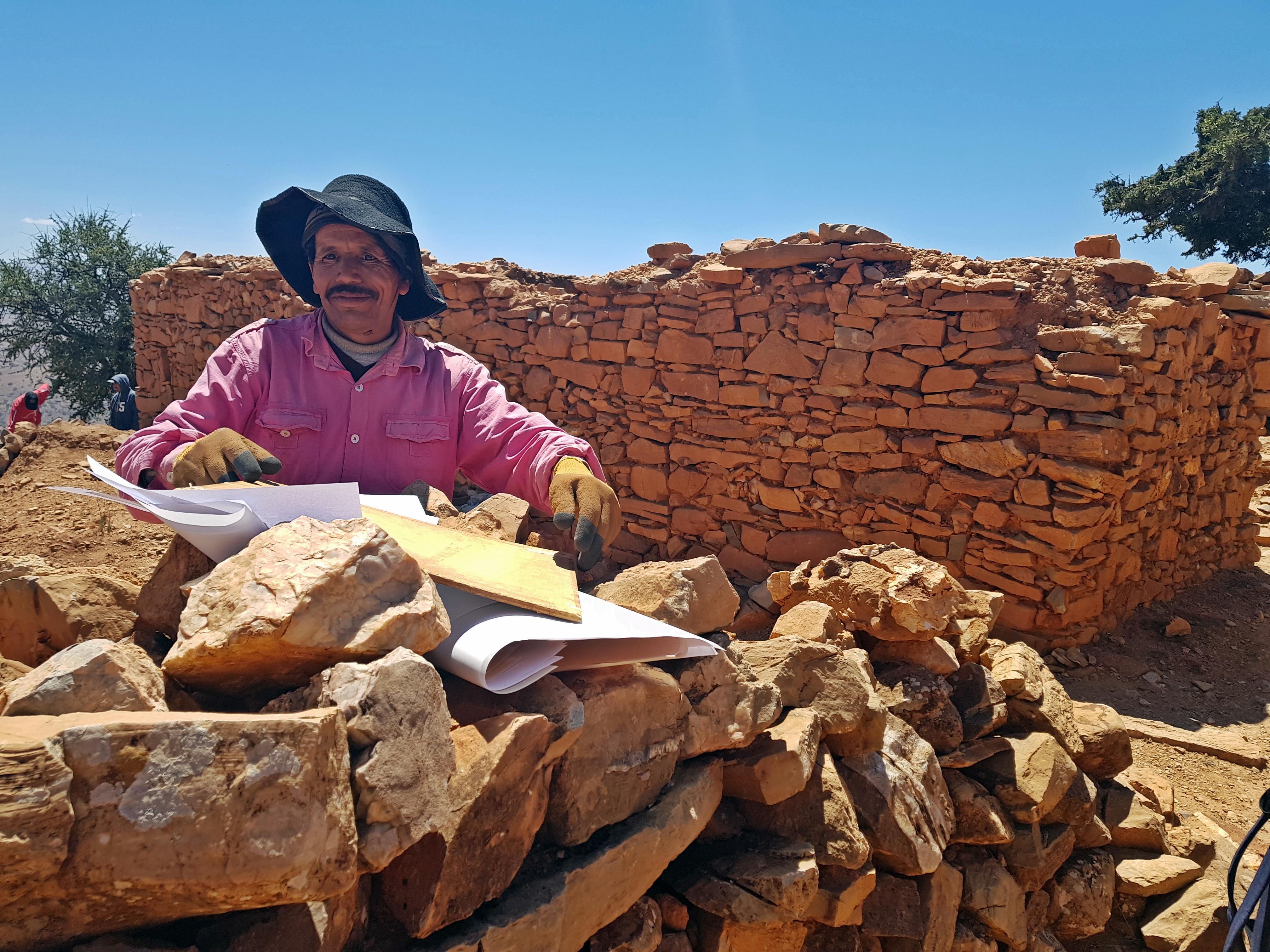 Archéologue à l'oeuvre