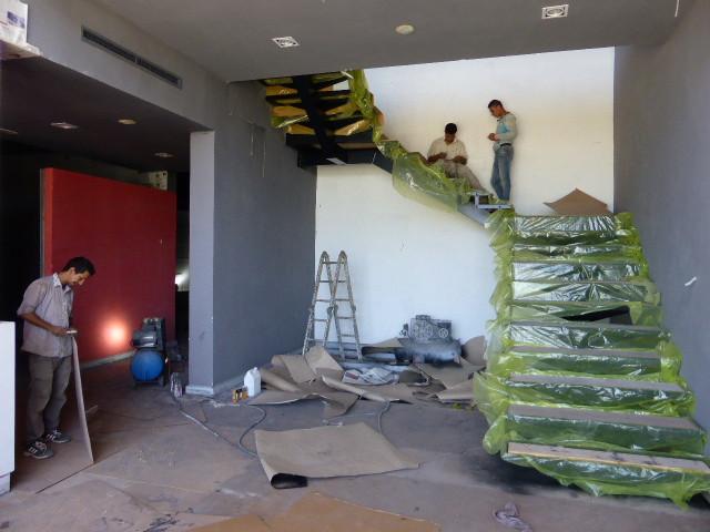Escalier en cours d'aménagement
