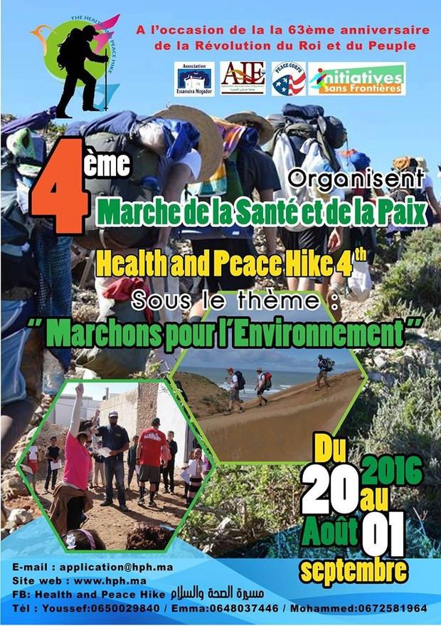 L'affiche de la 4e Marche de la santé et de la paix.