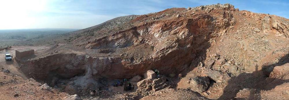 Jebel Ighoud (ou Irhoud) : les fouilles ont lieu ic.