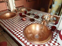 Deux vasques en cuivre