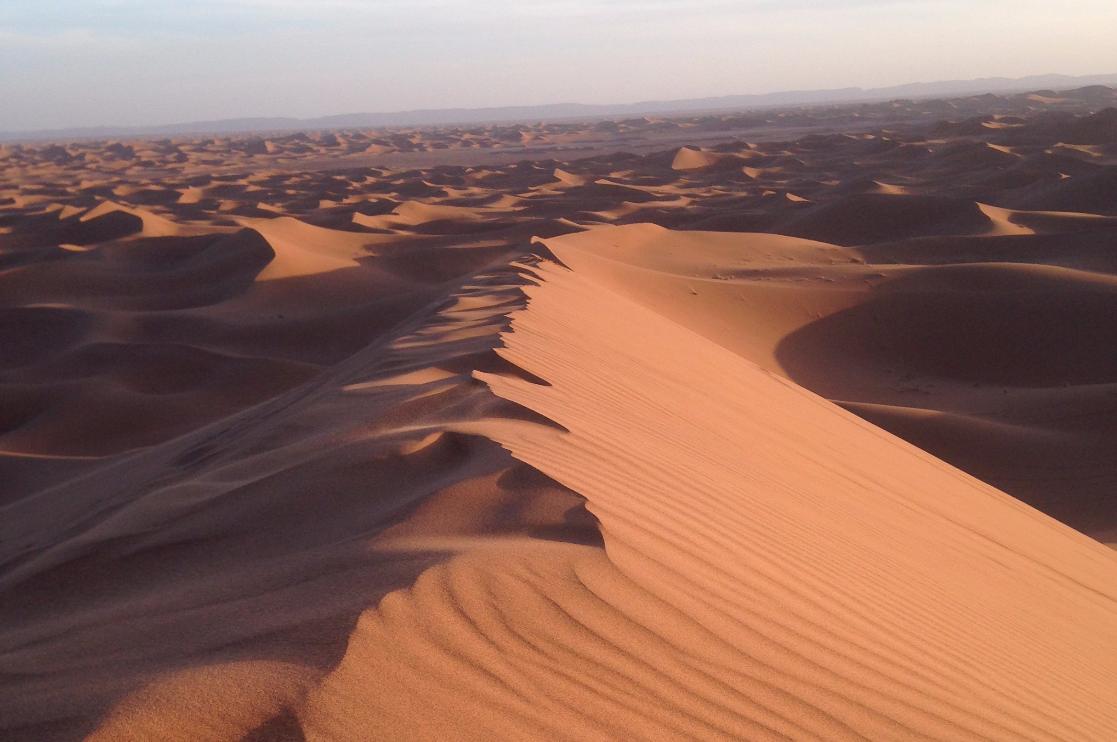 Dunes de sable à l'ouest de M'Hamid