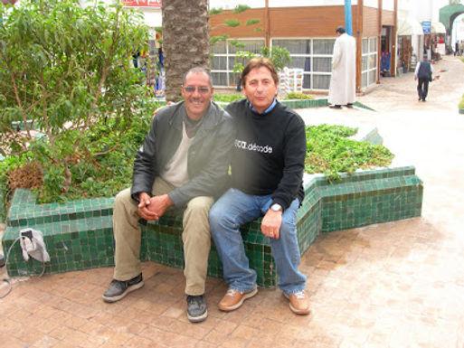 A Agadir avec Abdellatif, technicien de la commune de Sidi Boumoussa