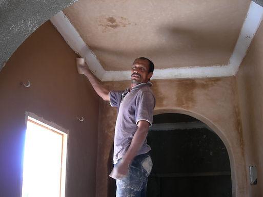 Le tadelakt s'impose en grand seigneur sur les murs et les plafonds
