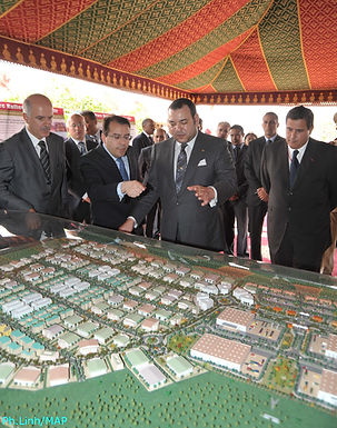 Le roi Mohammed VI lance le parc industriel Haliopolis à Drarga