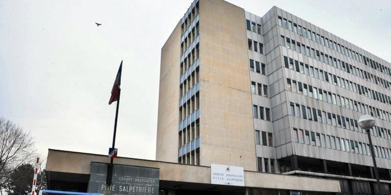 L'Hôpital de la Pitié-Salpêtrière de Paris, où Jacques Chirac a dû être rapatrié d'urgence d'Agadir.