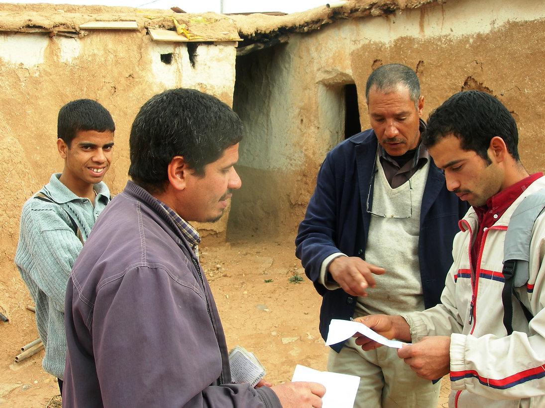 Janvier 2007 dans la cour de la Bergerie : première visite