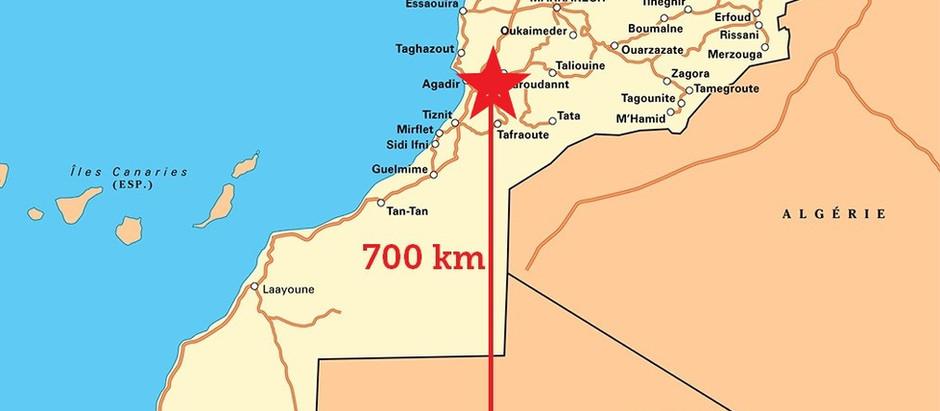 Le Tropique du Cancer? Il se trouve à Dakhla, à 700 km au sud d'Agadir
