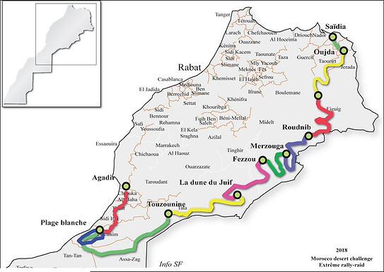 Le Morocco desert challenge relie Agadir à Oujda en huit étapes pour les meilleurs amateurs