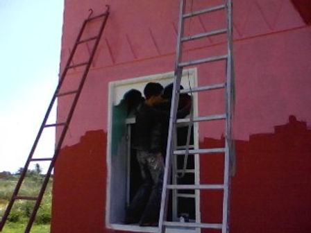 Couleur vert d'eau pour les fenêtres et les portes-fenêtres