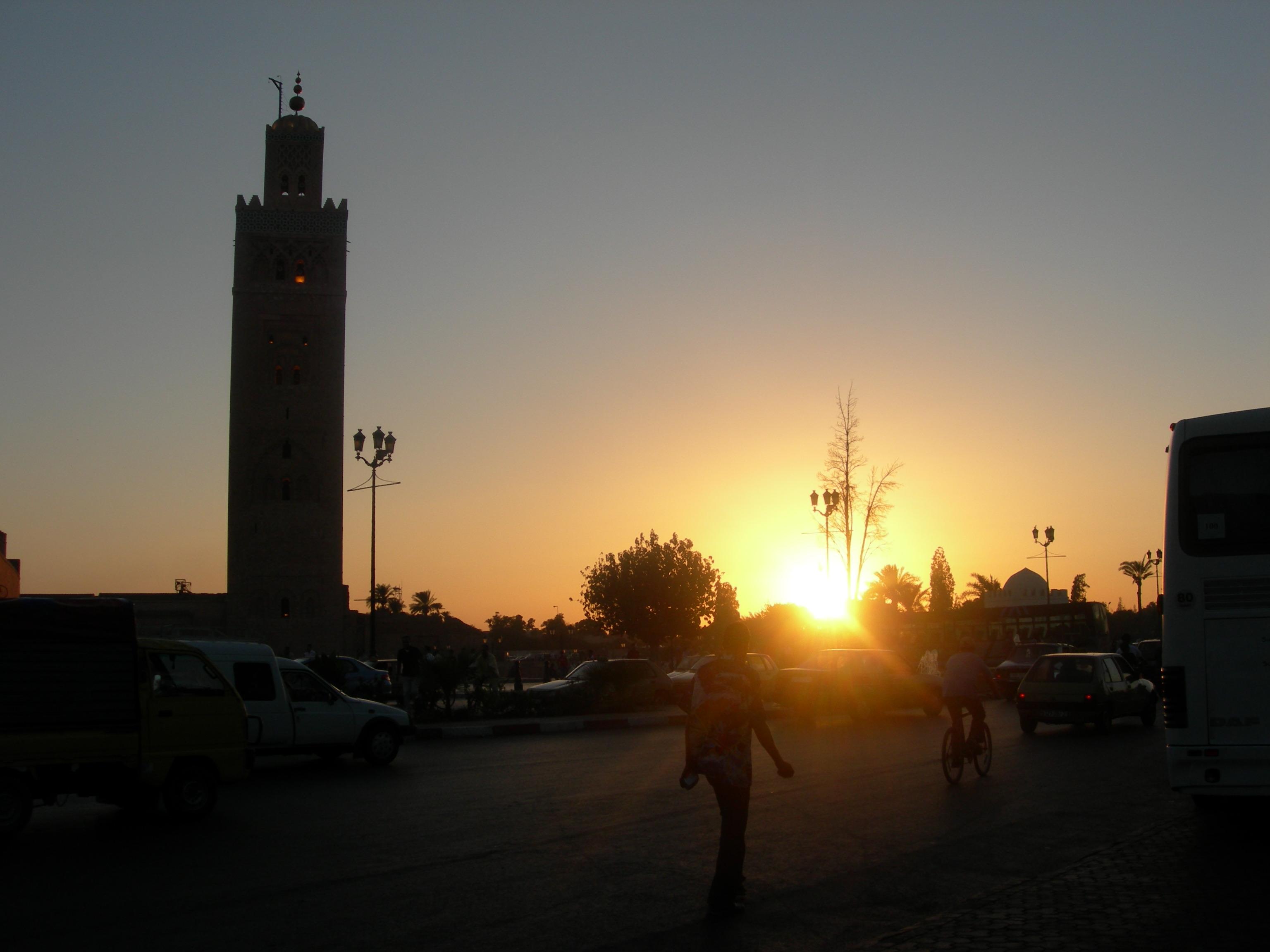 Coucher du soleil sur la Koutoubia