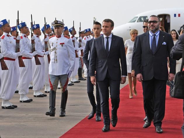 Emmanuel Macron reçu par le roi Mohammed VI