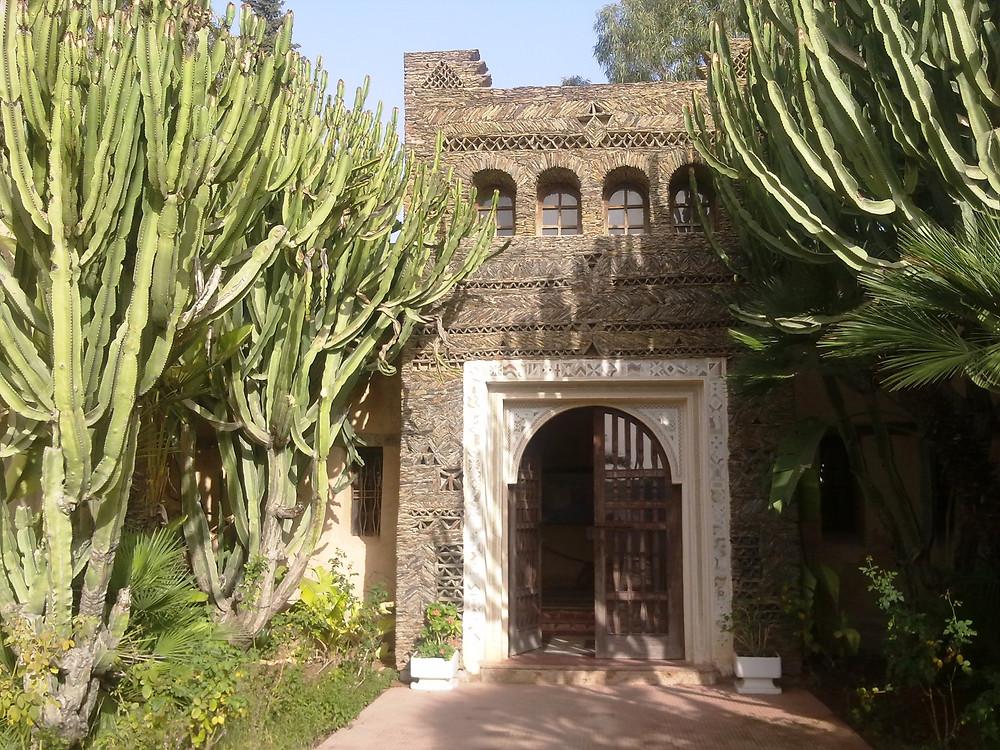 Jardin Olhao : l'entrée du petit musée sur le tremblement de terre de 1960