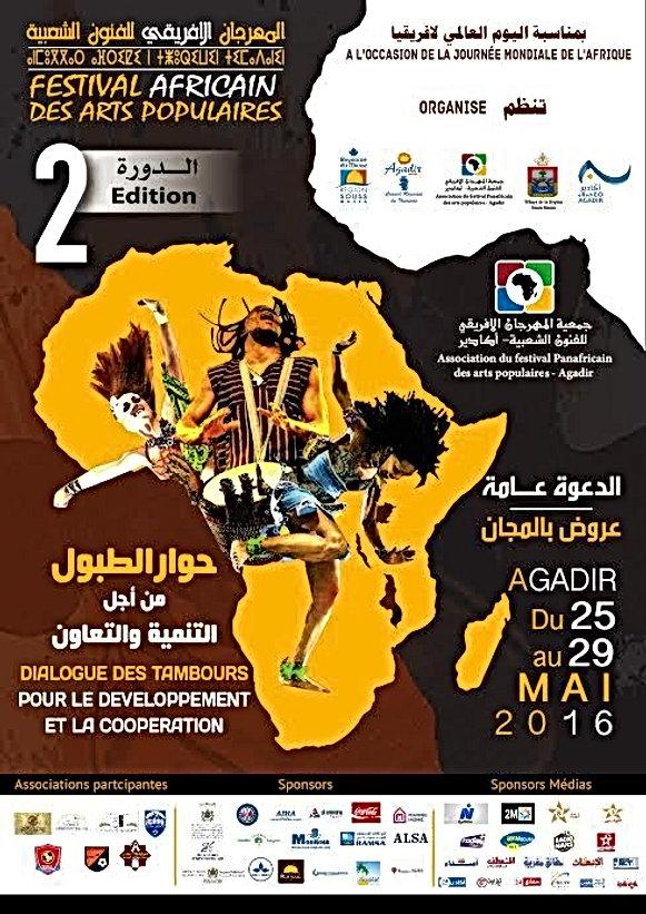 Le Festival africain des arts populaires se tient à Agadir du 25 au 29 mai 2016