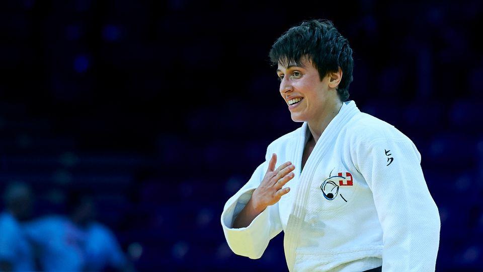 Evelyne Tschopp, médaille d'or des moins de 52 kg. Photo Adam Nurkiewicz - Freshfocus