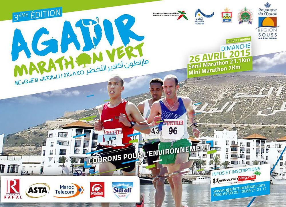 Le Marathon vert d'Agadir, sur cette affiche devant la Marina