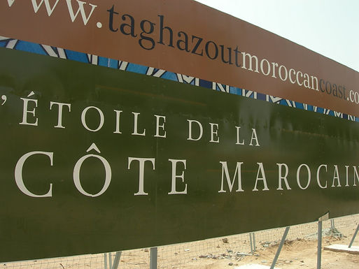 Balade à dos de dromadaire à Taghazout, future station du plan Azur