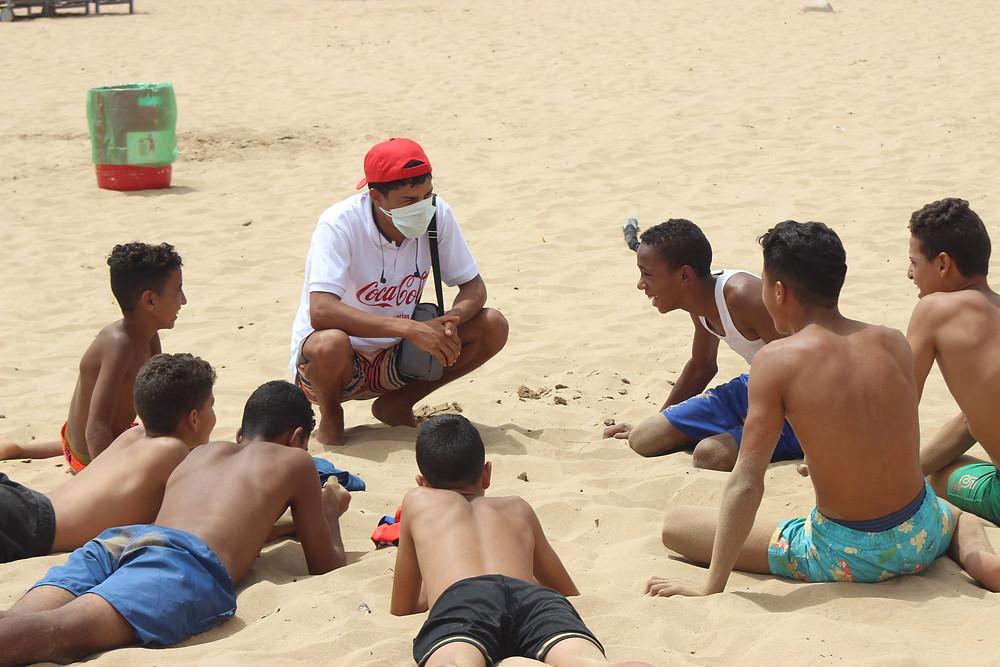 Bogosses sur la plage