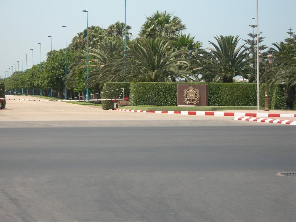 L'entrée du Palais royal d'Agadir