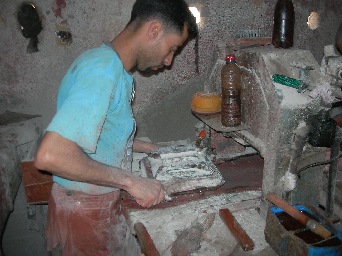 Fabrication de carreaux de ciment à Ouled Teima