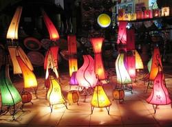 Lampes colorées