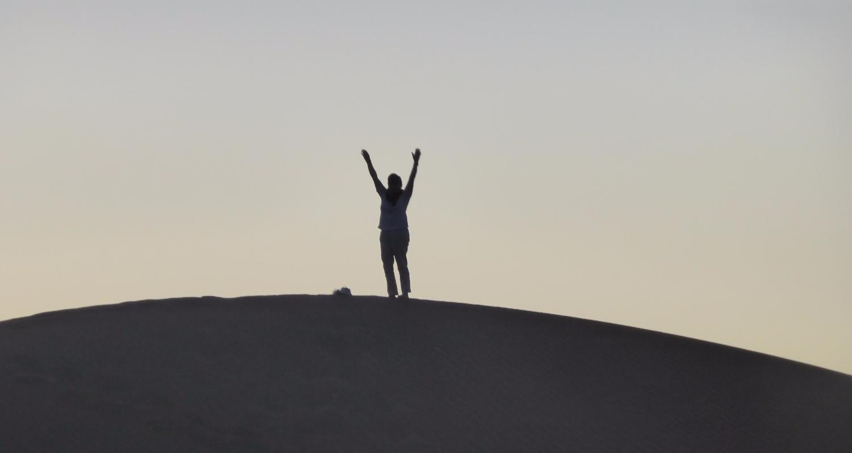 Sur la plus haute dune