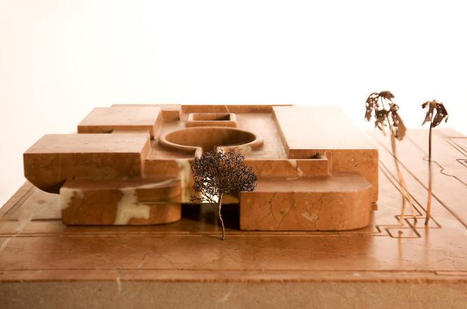 Le futur Musée Yves Saint Laurent de Marrakech (maquette du Studio KO).