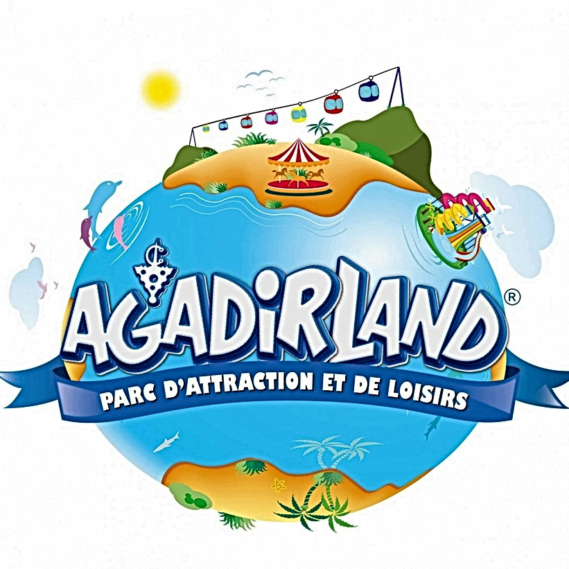 Le parc d'attraction Agadirland projeté près de l'ancienne Kasbah avec un téléphérique