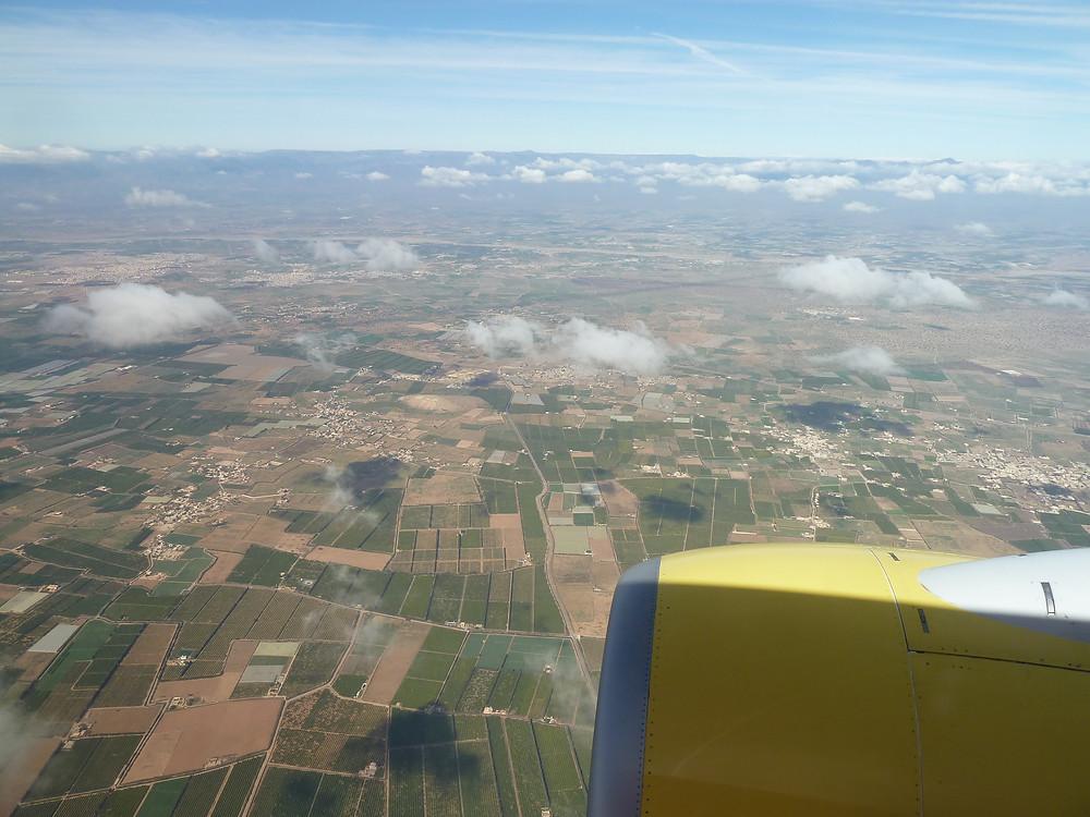 La plaine du Souss, juste avant l'arrivée à l'aéroport d'Agadir Al Massira.
