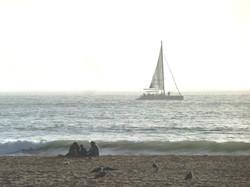 Devant la plage d'Agadir