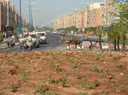 Rond-point à Ouled Teima