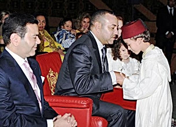 Troisième année d'école pour le petit prince Moulay Hassan