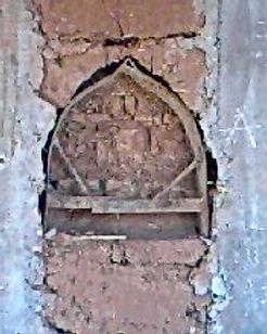 Des niches creusées dans les murs