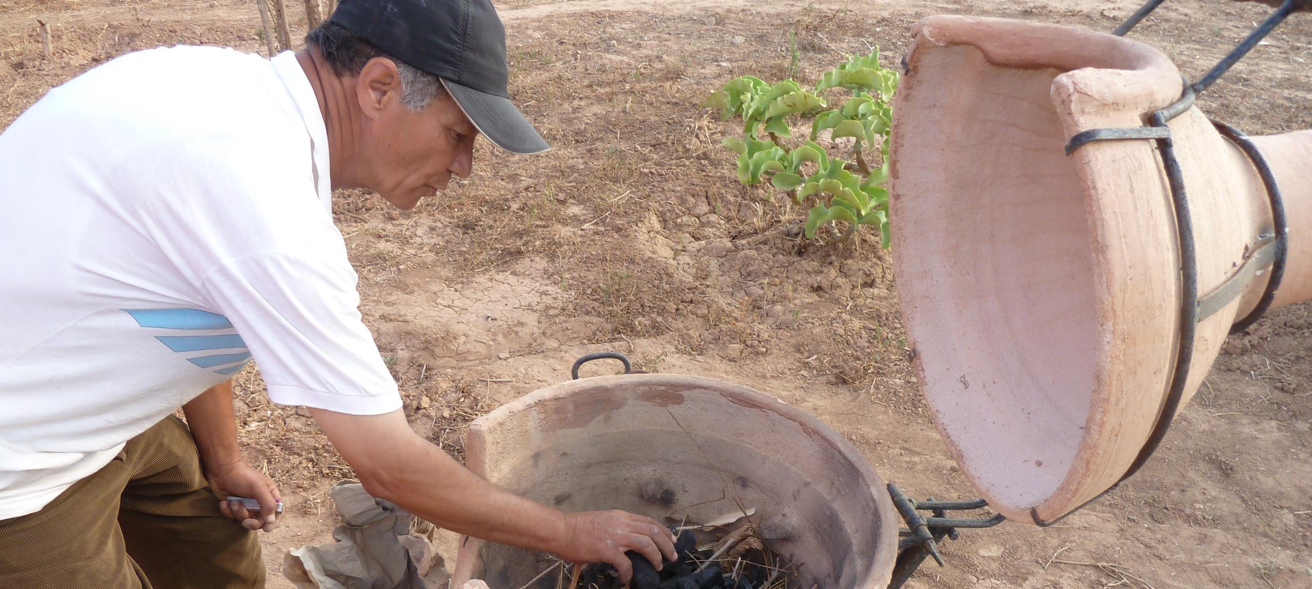 Préparation du pain tafernout