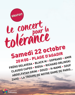 Concert pour la tolérance, Agadir