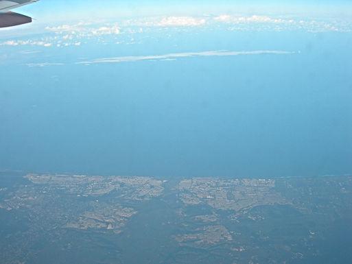 Rabat vue d'avion et le Palais royal par Google Earth