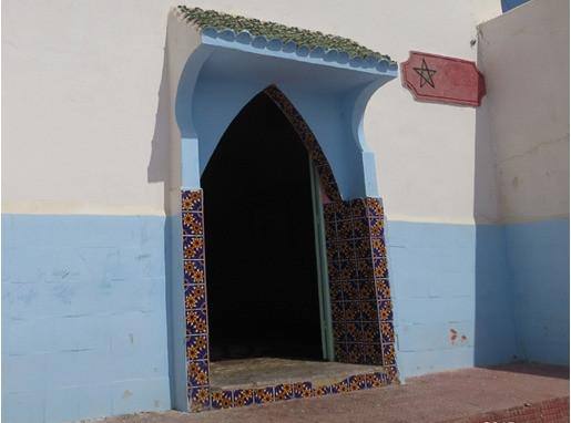 L'entrée du mausolée. Photo R. Caïs-Terrier